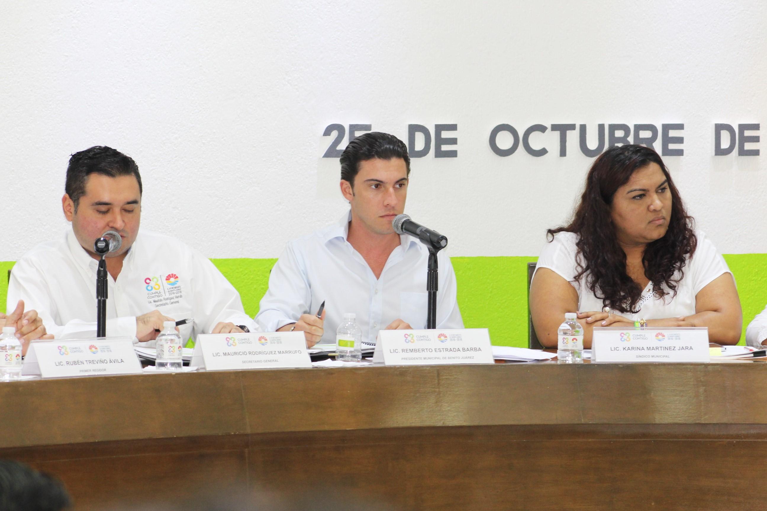 El alcalde de Benito Juárez, Remberto Estrada