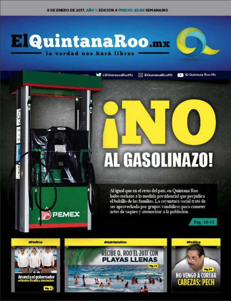SEMANARIO EL QUINTANA ROO MX EDICIÓN 004 AÑO 1