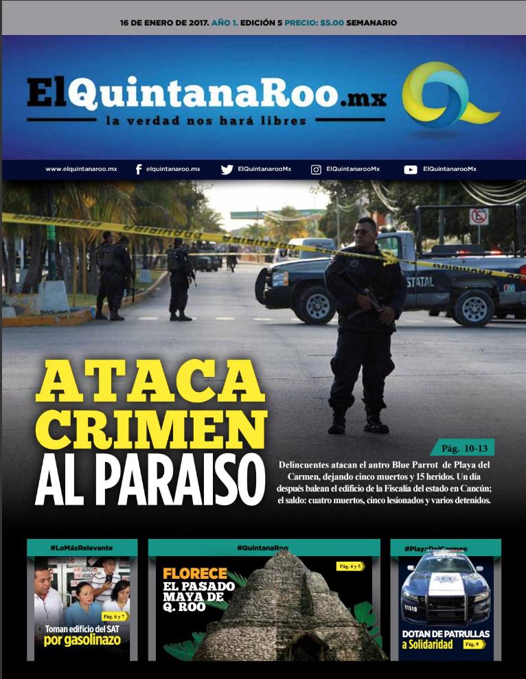 SEMANARIO EL QUINTANA ROO MX EDICIÓN 005 AÑO 1